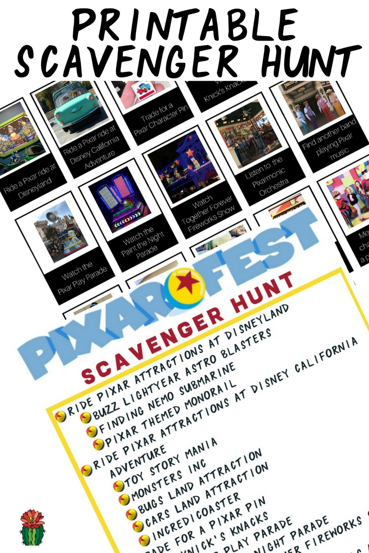 Are you making plans to visit the Disneyland Resort this summer for all the Pixar fun? There is some much fun that I've created a free Pixar Fest Scavenger Hunt at Disneyland printable to make sure you experience all the Pixar fun including food, merchandise, shows, characters and attractions at Disneyland.