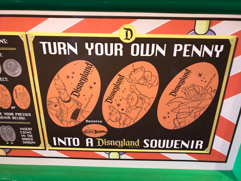 Press a Pixar Penny on a Pixar Fest Scavenger Hunt at Disneyland