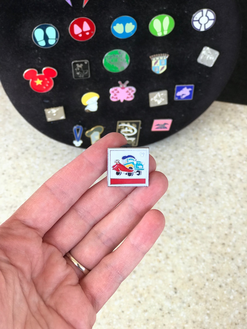 Trade for a pixar pin on the Pixar Fest Scavenger Hunt at Disneyland