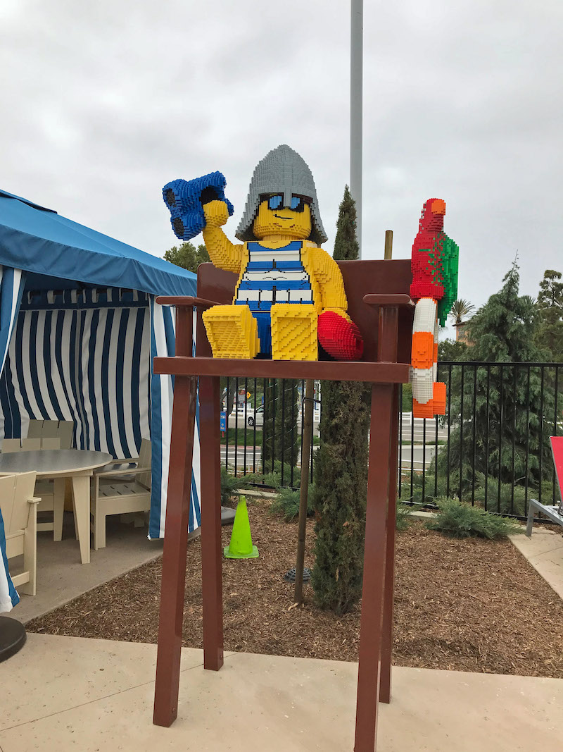 LEGO Lifeguard and real life guards are on duty at the LEGOLAND Castle Hotel Pool