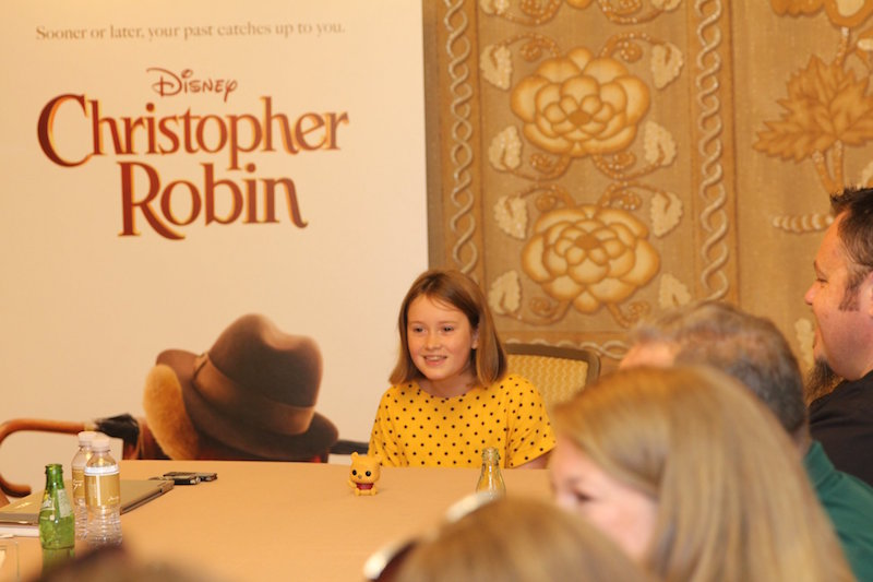 Bronte Carmichael Interview for Christopher Robin Movie Junket