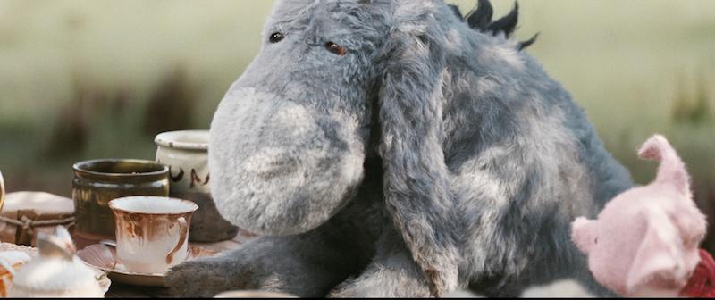 Eeyore and Piglet in Disney's live-action adventure CHRISTOPHER ROBIN.