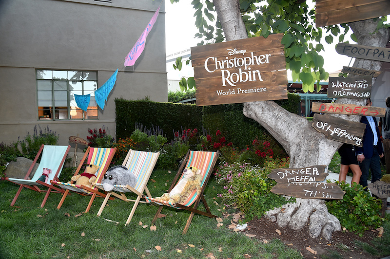 Beach chair scene at World Premiere of Christopher Robin