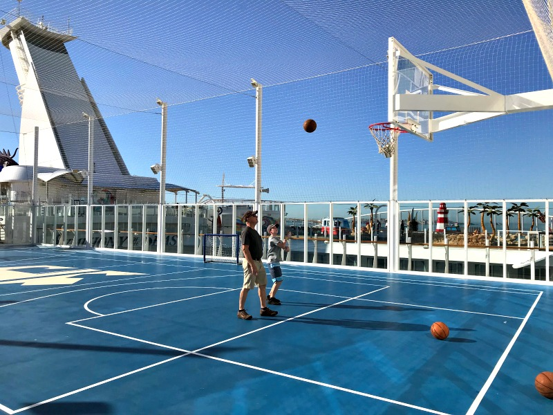 Sports Court on Royal Caribbean Symphony of the Seas cruise ship. It is one of the amazing tween friendly activities aboard the largest cruise ship in the world.