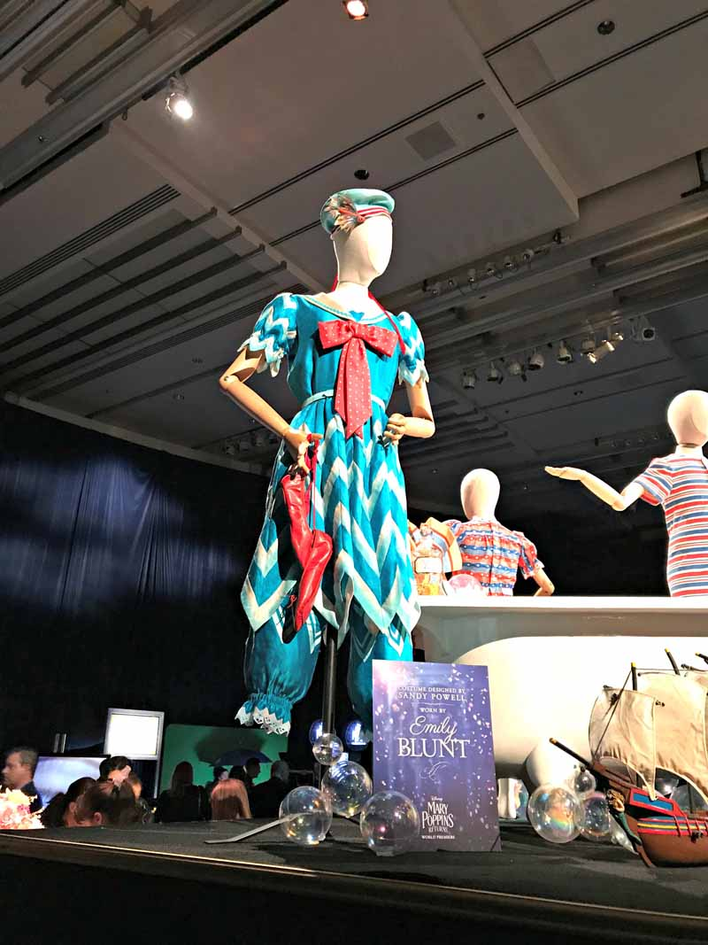 Mary Poppins Returns Costumes on display at Mary Poppins Returns premiere party