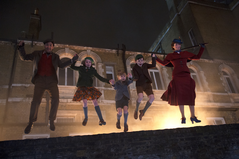 Mary Poppins, Jack and Banks kids in Mary Poppins Returns