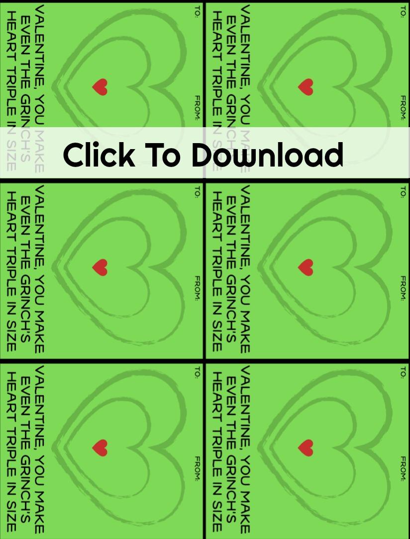 Download free grinch valentine exchange cards