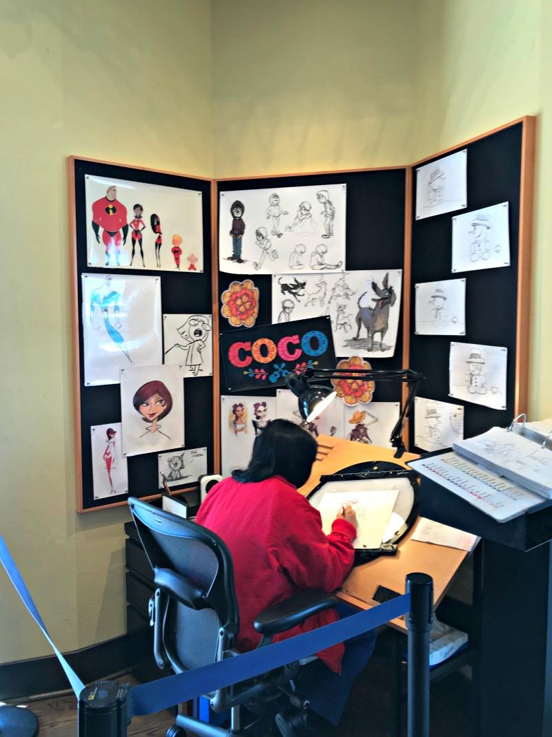 Artist Corner at Knick's Knacks for Toy Story Scavenger Hunt at Disneyland
