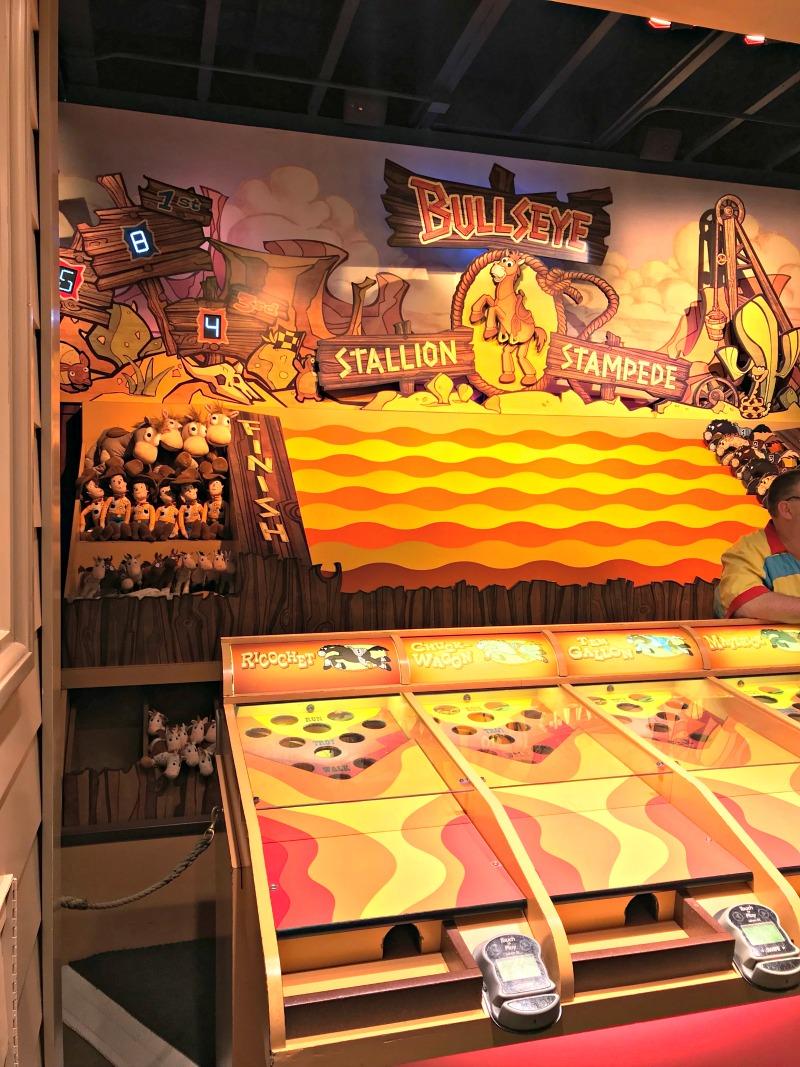 Bullseye Stallion Stampede Carnival Game at Disneyland for Toy Story Scavenger Hunt
