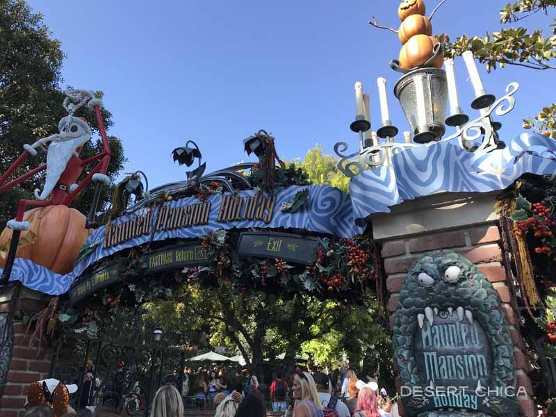 Entrance to Haunted Mansion Holiday at Disneyland