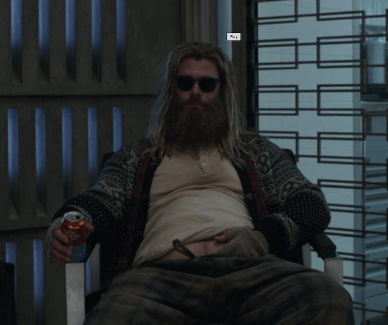 Fat Thor from Avengers Endgame