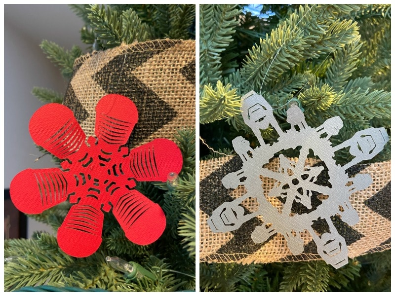 Star Wars Snowflakes on a Christmas Tree