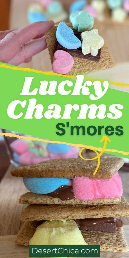 Smores using lucky charms marshmallows