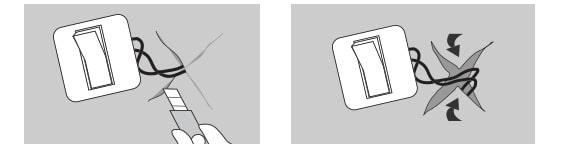Soket ve anahtarlar etrafında duvar kağıdı boyutlandırma devresi