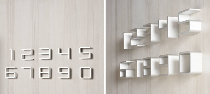 UPDATED  Modern House Numbers   Design Milk Designed by Jehs   Laub for Authentics  the Entrance House Numbers have a  slightly mod appearance and a distinctive look  The letters are thin but  with a