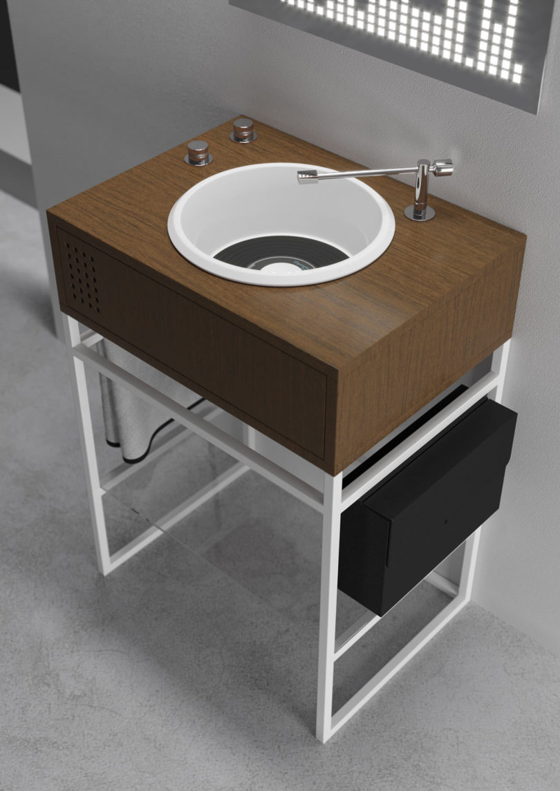 Best Kitchen Gallery: Olympia Ceramica Introduces Vinyl Inspired Bathroom Sinks By of Bathroom Sink Design  on rachelxblog.com