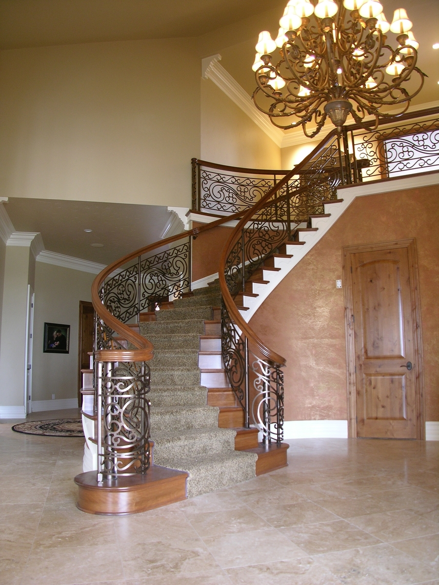 Main Stair Design Build Buildings   Main Entrance Stairs Design   Exterior   Backyard Patio   Patio   Front Yard   Traditional