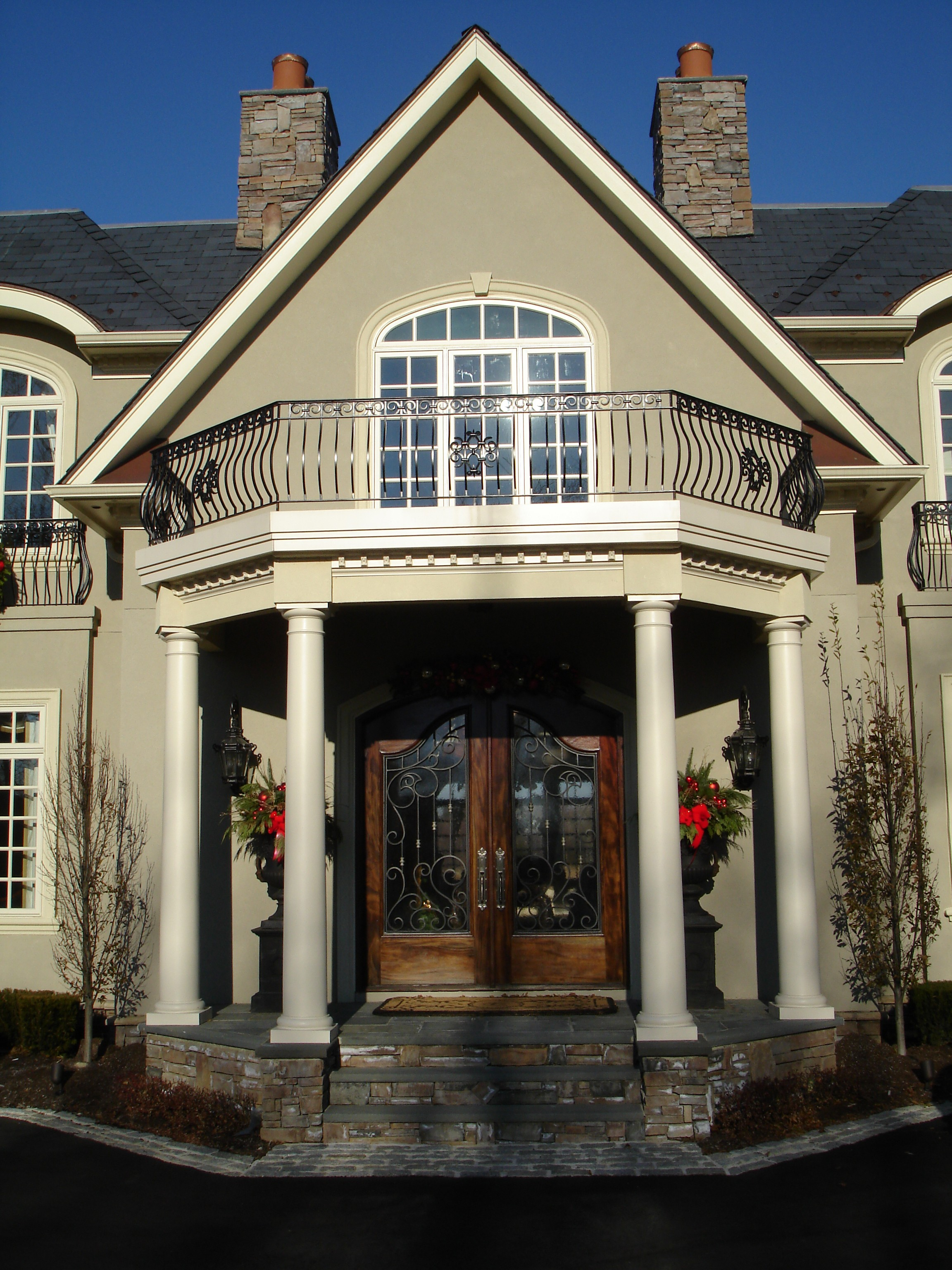 Front Entry Portico Remodeling Projects In New Jersey