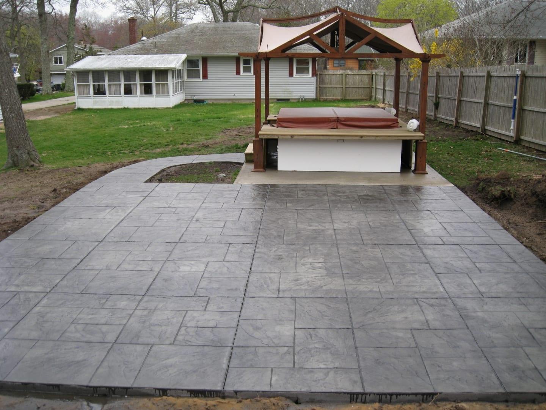 No Colored Stamped Concrete Patios