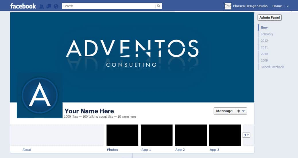 Adventos -- Small Business Facebook Layout