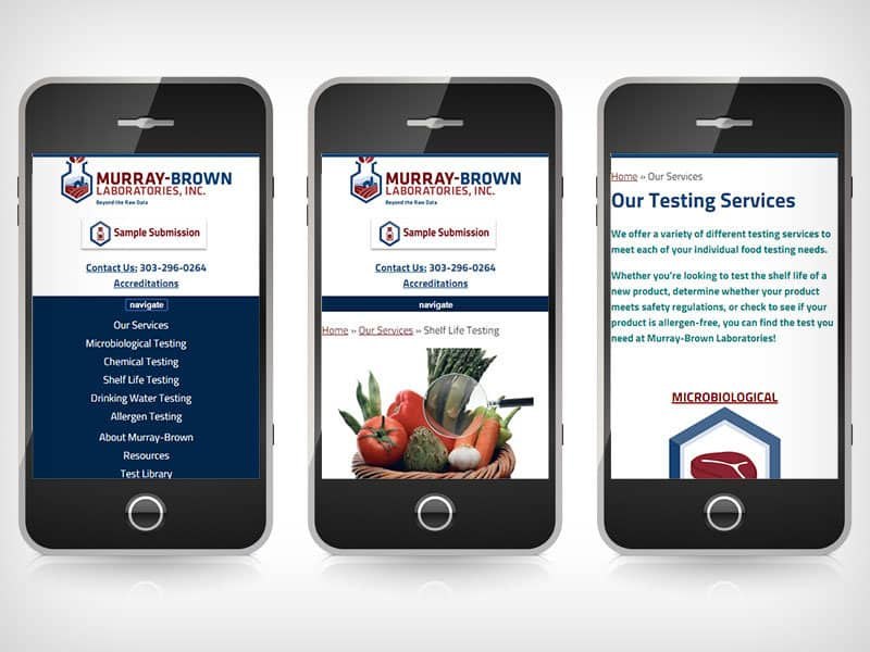 Murray-Brown Labs - Mobile Website Design