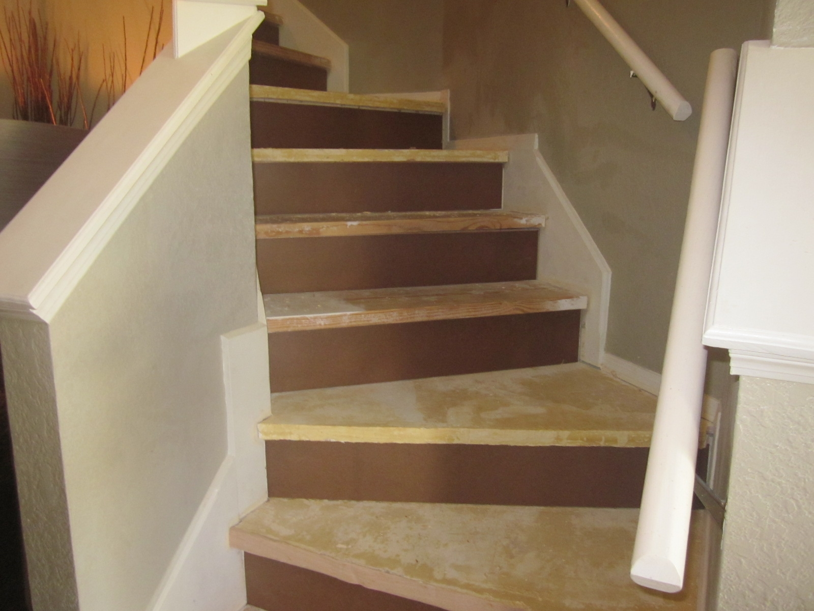 How We Refinished Our Stairs Diy Style Design Gab With Adentro   Particle Board Stair Treads   Uncarpeted   Mdf   Refinish   Rough Cut   Recycled