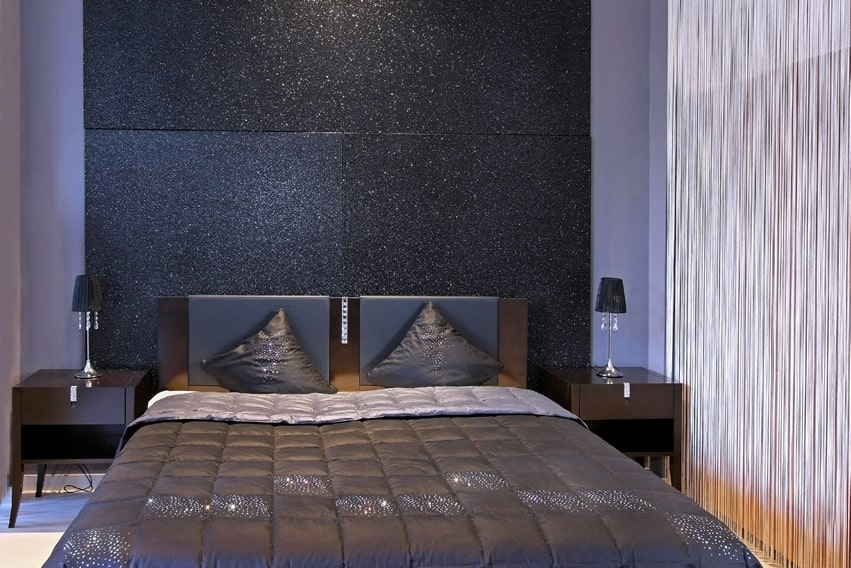 Charcoal Grey Blue Bedroom