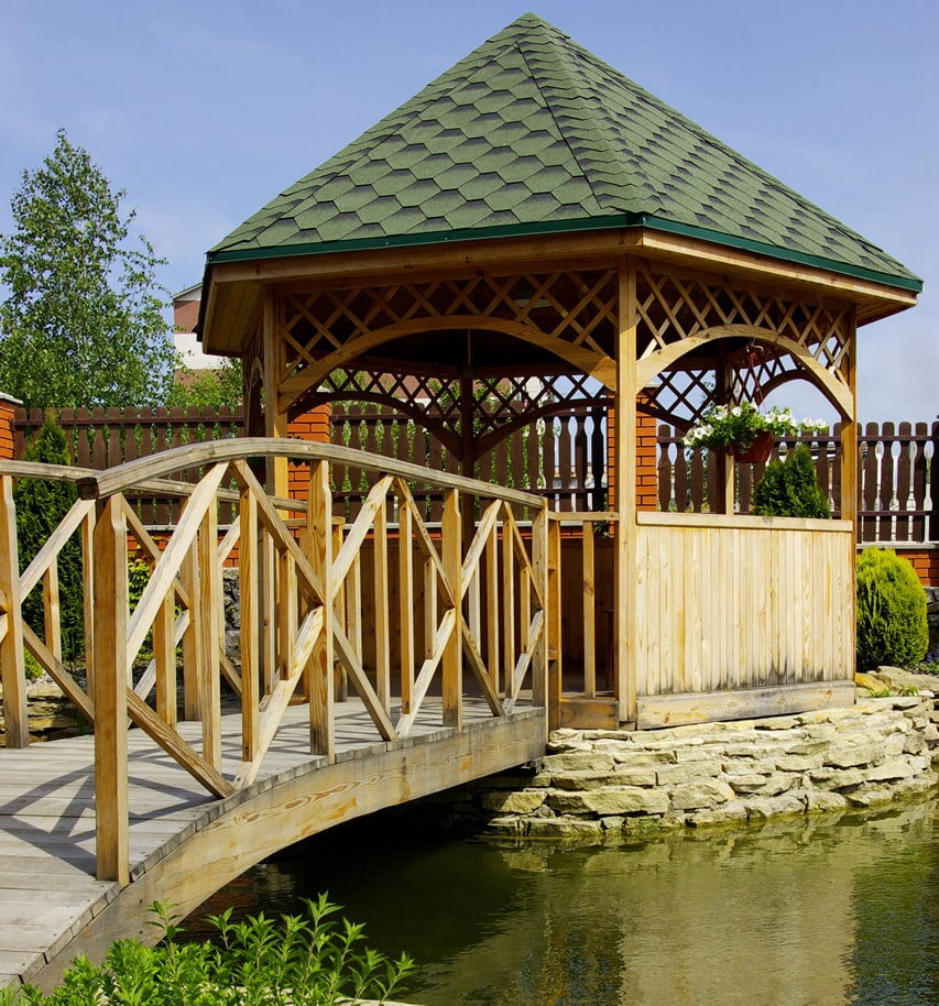 Backyard Pond Bridge