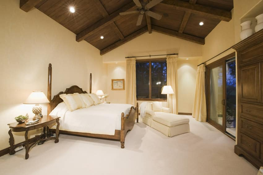 55 Custom Luxury Master Bedroom Ideas  Pictures    Designing Idea Master bedroom with wooden vaulted ceiling