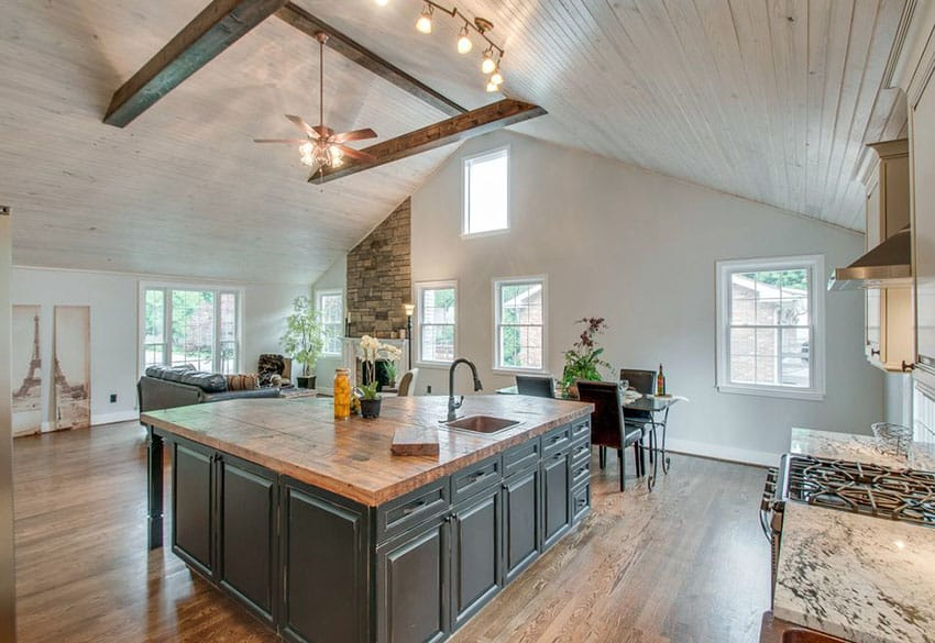 25 Reclaimed Wood Kitchen Islands Pictures Designing Idea