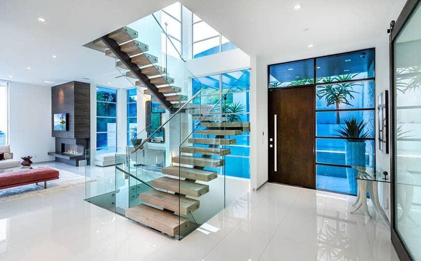 60 Gorgeous Stair Railing Ideas Designing Idea   Stair Railing Design Glass   Steel Stair   Oak Staircase   Steel   Staircase Remodel   Stainless Steel Railing