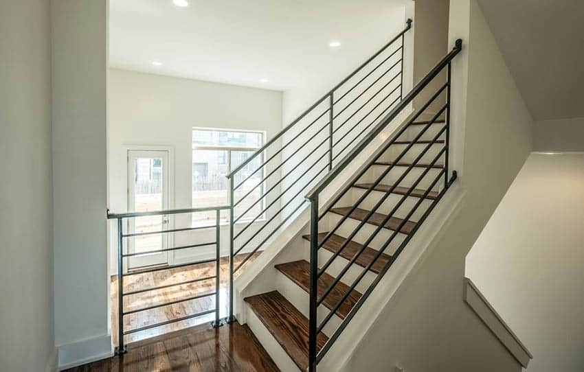 60 Gorgeous Stair Railing Ideas Designing Idea | Modern Steel Staircase Design | Small House | Beautiful | Handrail | Solid Steel | Gallery