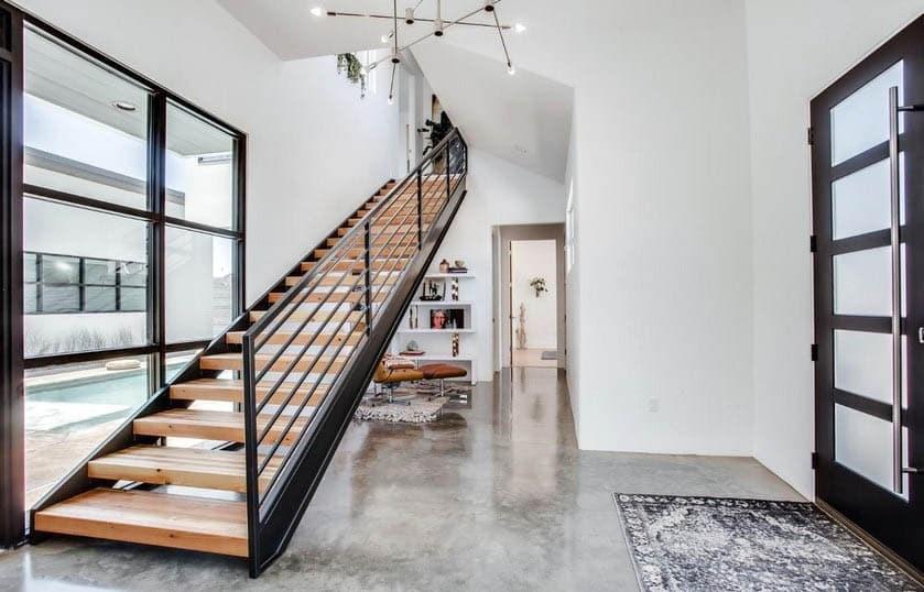 Indoor Stair Railing Design Designing Idea | Wood And Metal Banister | Modern | Rustic | Stainless Steel | Design | Aluminum