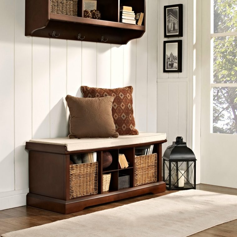 Pottery Barn Entryway Bench And Shelf