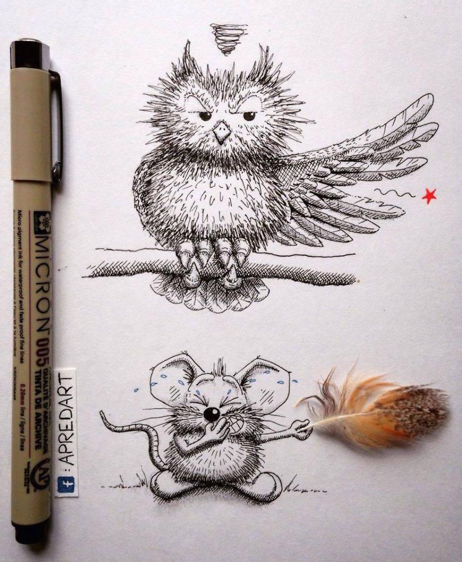 Rikiki Mouse Drawings By Apredart Design
