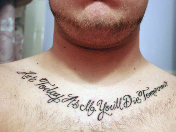 Image of: Happy Deep Meaning Quote Tattoo Slodive Tattoo Quotes For Men 31 Precious Collections Design Press