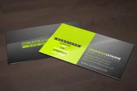 100 Free Business Card Templates   designrfix com Free Corporate Black and Green Business Card Template