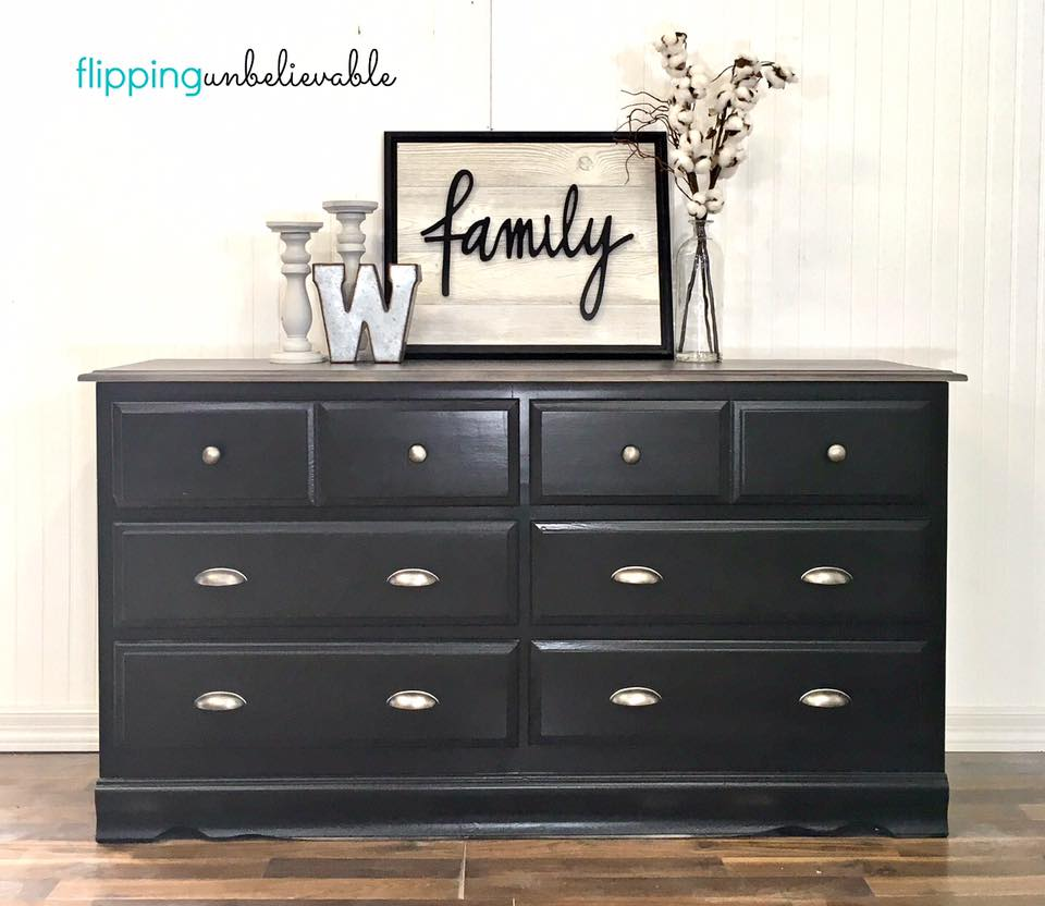 Dresser In Lamp Black Milk Paint General Finishes Design