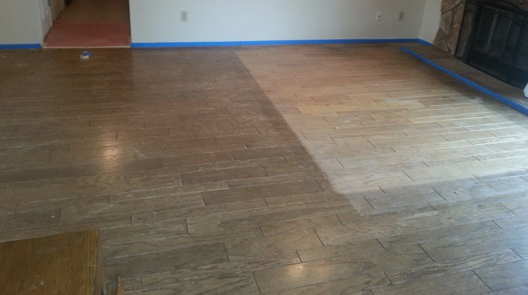 Before And After Floor Transformation General Finishes