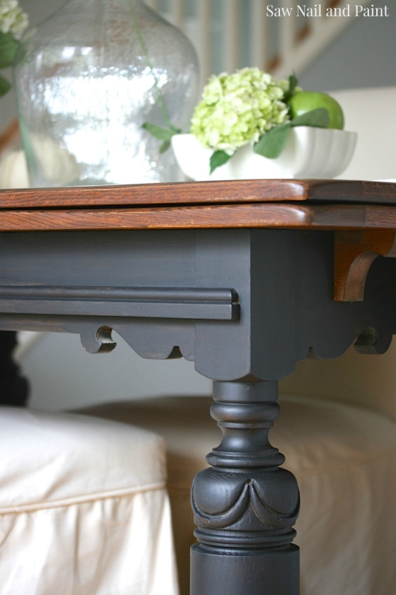 Lamp Black And Java Drop Leaf Table General Finishes