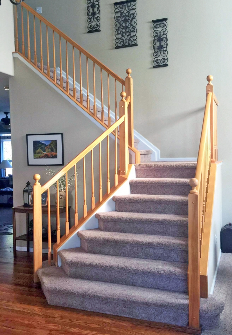 Antique Walnut Gel Stained Stairs General Finishes