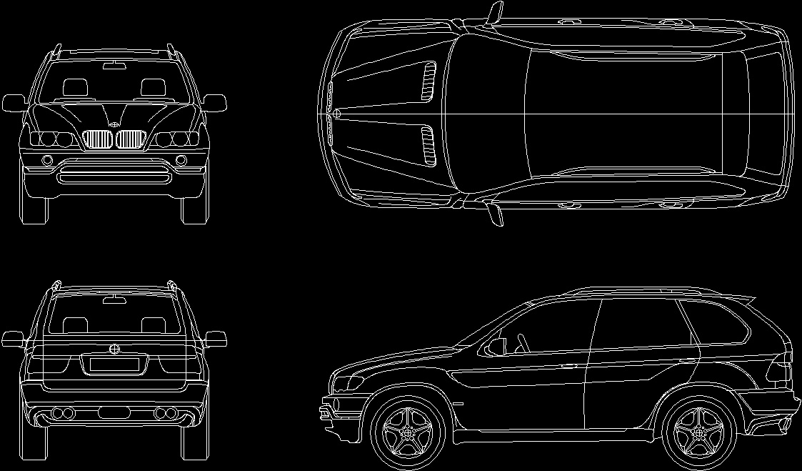 Car Bmw X5 2D Dwg Plan For Autocad Designs Cad   Interior