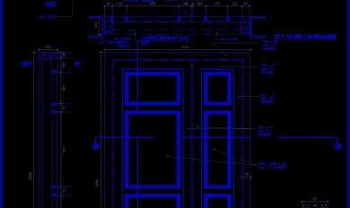 Wooden Door Details Dwg Free Download
