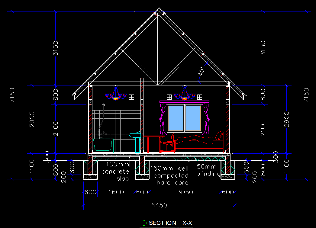 Wooden House Chalet 2d Dwg Plan For Autocad Designs Cad