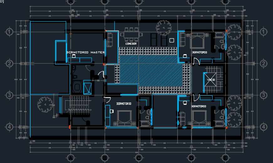 Beach House With Pool And Floor Plans 2d Dwg Design