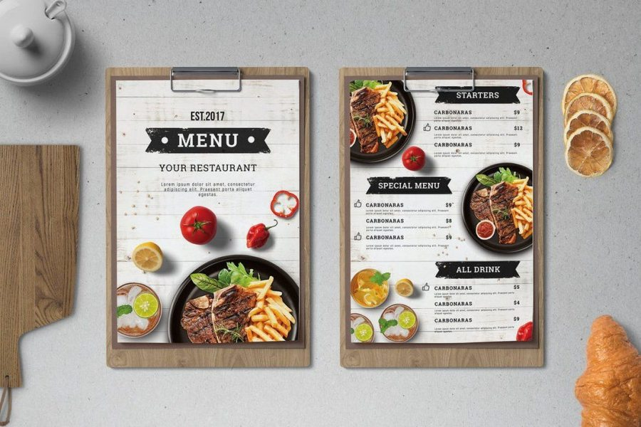 30  Best Food   Drink Menu Templates   Design Shack This menu template is perfect for designing a food menu for a small  restaurant or a cafe  It s designed with a mixed modern and classic design  to attract