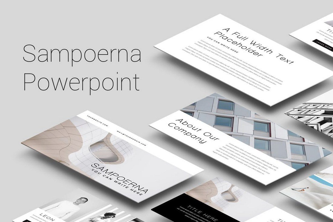 25  Best Minimal PowerPoint Templates 2018   Design Shack Sampoerna is a presentation template that features lots of visual elements   including large images  icons  graphics  and more  It has over 35 unique  slides