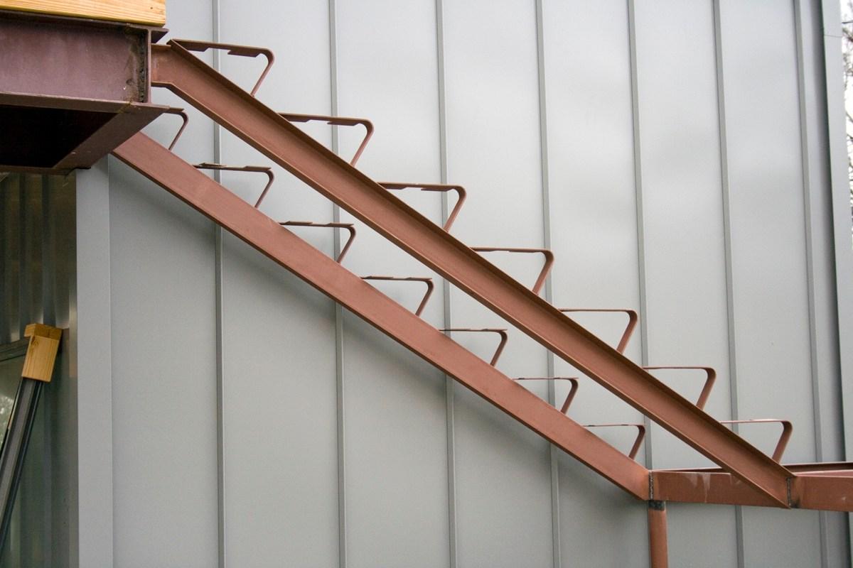 Progress Report Designstudiomodern | Steel Stair Stringer Design | Exterior | Free Standing | Indoor | Modern | Staircase Bar Length
