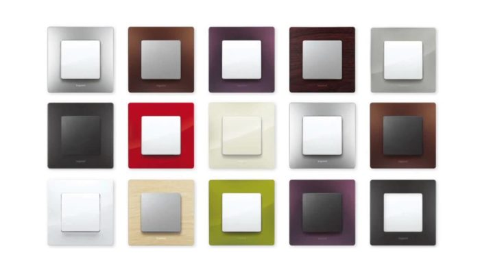 Разноцветные дизайнерские розетки