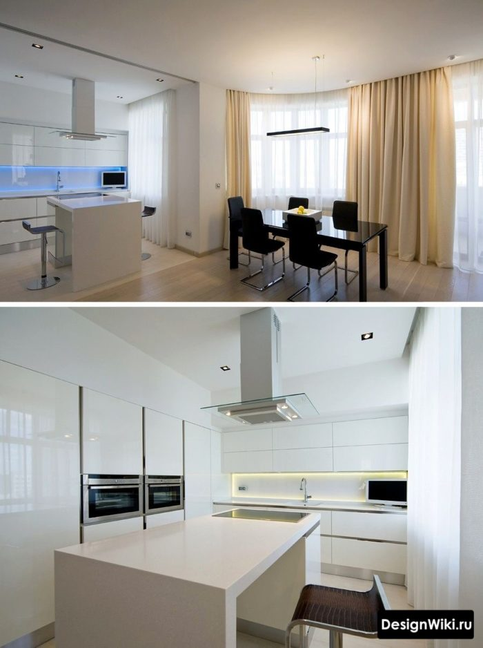 Inbyggd utrustning i modernt kök